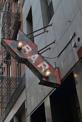 Photograph - Bar Sign by Matt Radcliffe