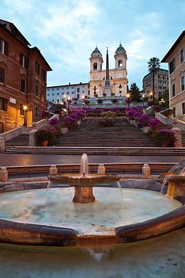 Photograph - Baraccia Fountain At Bottom Of Spanish by Richard I'anson