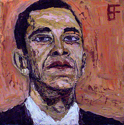 Barack Obama Oil Painting - Barack Hussein Obama by Allen Forrest