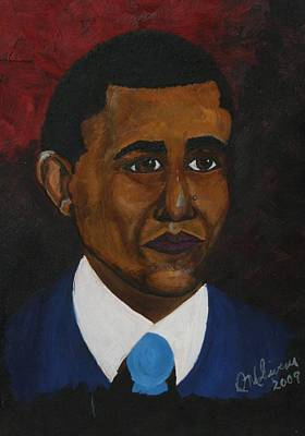 Barack Obama Oil Painting - Barack Hussein Obama II  by DM Givens