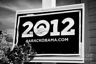 Barack Obama 2012 Us Presidential Election Poster Florida Usa Art Print by Joe Fox