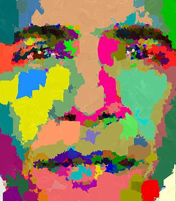 Painting - Barack Obama - Abstract 01 by Samuel Majcen