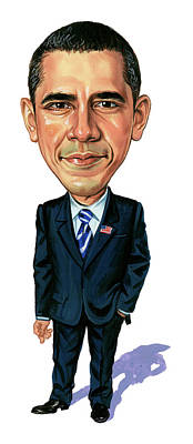 Comics Royalty-Free and Rights-Managed Images - Barack Obama by Art