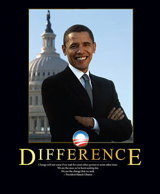 Politicians Photograph - Barack Obama Difference by Retro Images Archive