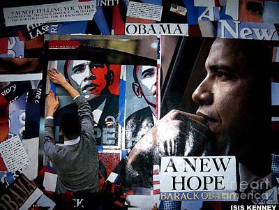 Barack Obama Art Print by Isis Kenney