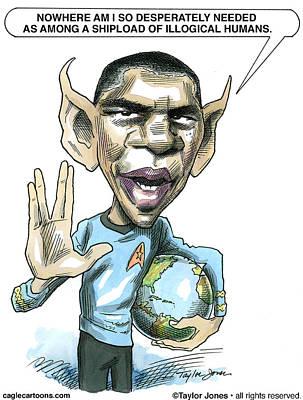 Barack Obama Print by Taylor Jones