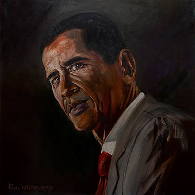 Barak Obama Art Print by Paul Whitehead