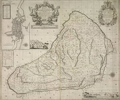 Cartography Photograph - Barbados by British Library