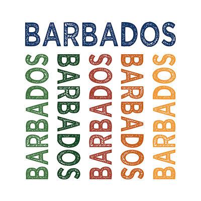 Barbados Cute Colorful Art Print by Flo Karp