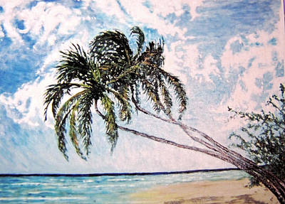 Painting - Barbados Gold Coast by Ian  MacDonald