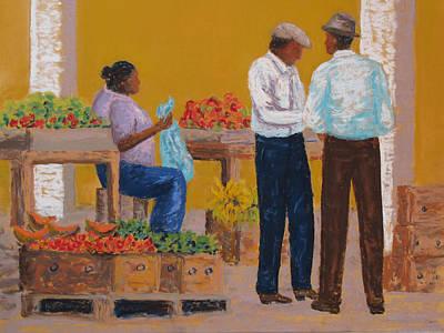 Pastel - Barbados Market Day by Patricia Beebe
