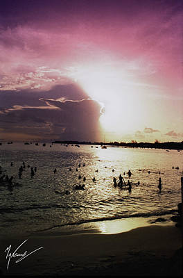 Barbados Sunset Art Print by Max CALLENDER