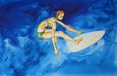 Painting - Barbados Surfer by Patricia Beebe