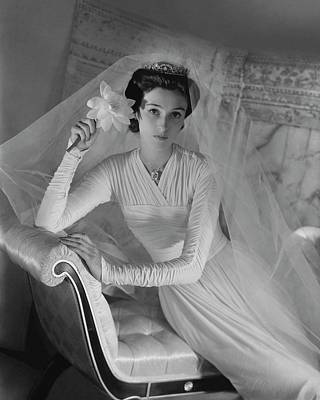 Cushing Photograph - Barbara Cushing In Her Wedding Dress by Horst P. Horst