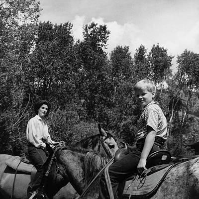 Cedar Park Photograph - Barbara Mortimer And Son Tony Mortimer by Horst P. Horst