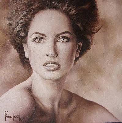 Paco Painting - Barbara by Paco Leal