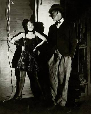 Barbara Stanwyck And Hal Skelly In Costume Art Print