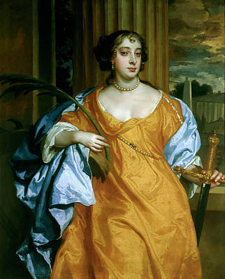 Barbara Villiers, Duchess Of Cleveland As St. Catherine Of Alexandria, C.1665-70 Oil On Canvas Art Print by Sir Peter Lely