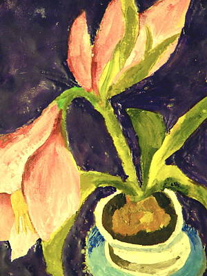 Barbara's Lily Art Print by Valerie Lynch