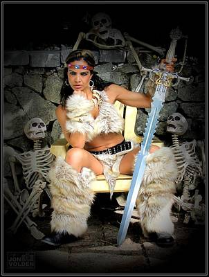 Photograph - Barbarian Queen by Jon Volden