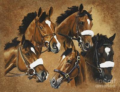 Painting - Barbaro And His Brothers by Pat DeLong