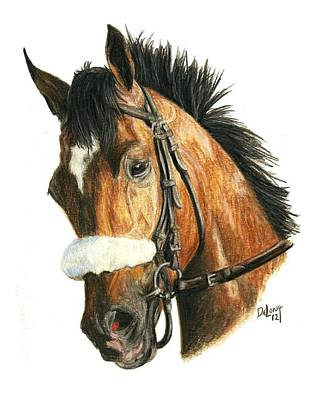 Kentucky Derby Painting - Barbaro by Pat DeLong