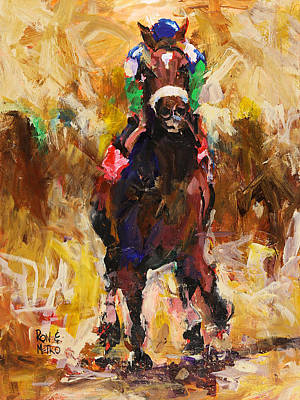 Racehorse Painting - Barbaro by Ron and Metro