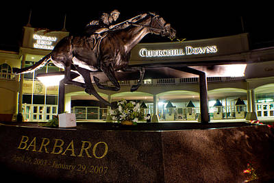 Photograph - Barbaro Statue Outside Of Churchill Downs  by John McGraw