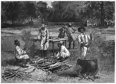 Cauldron Painting - Barbecue, 1887 by Granger