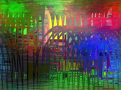 Barbed Wire Fences Digital Art - Barbed Wire Cubed 3 by Tim Allen