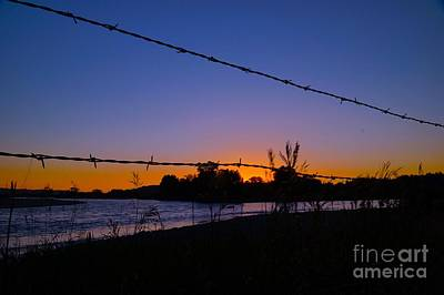Abstract Shapes Janice Austin - Barbed Wire Sunset by Kirk Erickson
