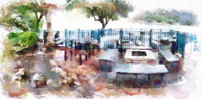 Digital Art - Barbeque Place At Lamma Island Beach by Yury Malkov