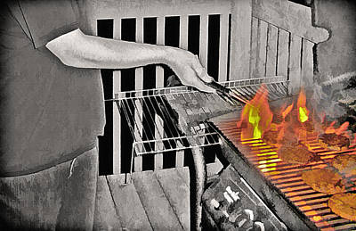 Hamburger Mixed Media - Barbeque by Steve Ohlsen
