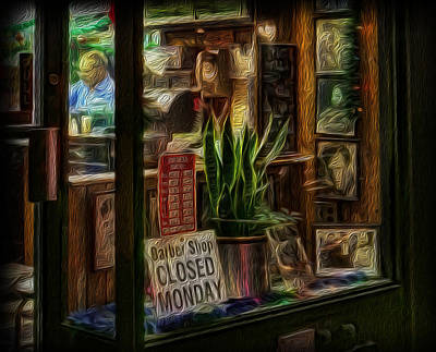 Photograph - Barber - Closed Mondays II by Lee Dos Santos