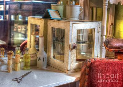 1880s Photograph - Barber - 1880s Barbershop - On The Shelf - Hdr by Liane Wright