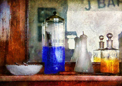 Water Jars Digital Art - Barber - Blueberry Flavored Thanks For Asking by Mike Savad