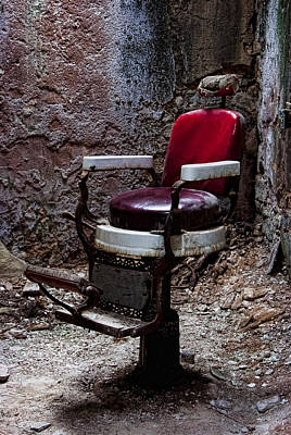 Photograph - Barber Chair by Michael Dorn