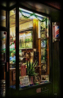 Photograph - Barber - Closed Mondays by Lee Dos Santos