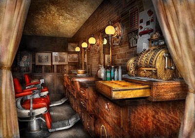 Cash Register Photograph - Barber - Closed On Sundays by Mike Savad