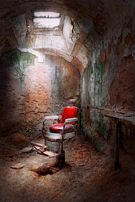 Savad Photograph - Barber - Eastern State Penitentiary - Remembering My Last Haircut  by Mike Savad