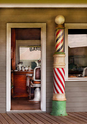 Photograph - Barber - I Need A Hair Cut by Mike Savad