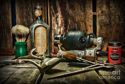 Barber Photograph - Barber - Scalp And Neck Massager by Paul Ward