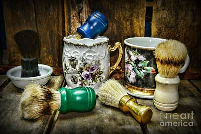Barber Photograph - Barber - Shaving Mugs And Brushes by Paul Ward