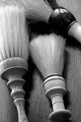 Barber Shop 13 Bw Art Print by Angelina Vick