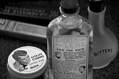 Barber Shop 18 Bw Art Print