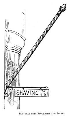 Staff Painting - Barber Shop Pole by Granger