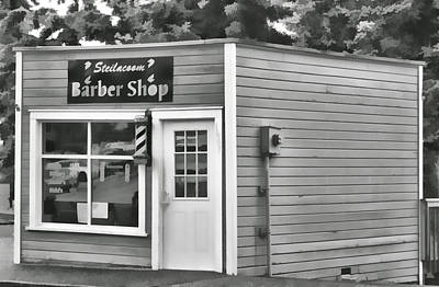 Photograph - Barber Shop by Ron Roberts