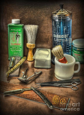 Photograph - Barber Shop Tools  by Lee Dos Santos