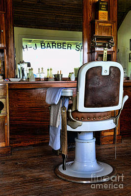 Barberchair Photograph - Barber - The Barber Shop by Paul Ward
