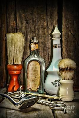 Barber - Vintage Barber Bottles Art Print by Paul Ward